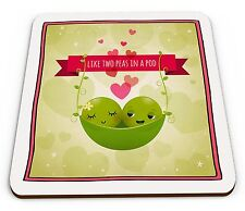 Like Two Peas In A Pod Novelty Glossy Mug Coaster