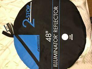 "Westcott Illuminator Collapsible Reflector 48"" Square Two-Stop Silk 4901"