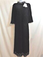Stylewe TAOYANSHUO Black Guipure Lace MULBERRY SILK Dress Size XXL 2X NWT