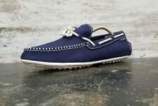 Mens Cole Haan Grant Lite Driver Loafers sz 11 M Used Blue Canvas C13444 Slip On