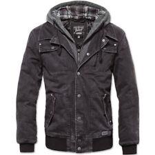 Cappotti e giacche da uomo nere lunghe in cotone