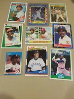 Jim Rice 9 Card Lot Boston Red Sox Topps Fleer Donruss Score All Star AS MLB HOF