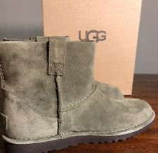 UGG Classic Mini Unlined Booties Size 8 Woman 100% Authentic Spruce Color New*