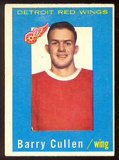 1959 60 TOPPS HOCKEY #25 BARRY CULLEN VG DETROIT RED WINGS CARD