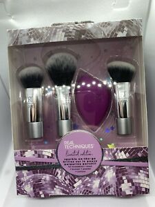 Real Techniques Sparkle On The Go LIMITED EDITION GIFT SET. Minis brush set!