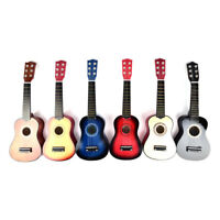 "21"" Soprano Ukulele Uke 15 Frets Musical Instrument 6 String Hawaiian Guitar  Tn"