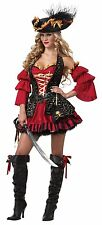 Eye Candy 01196 Black Red Spanish Pirate Costume 2x as SHOWN