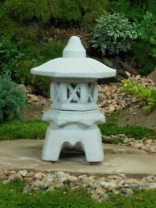 Japanische Steinlaterne-Yukimi KL-Gartendekoration Koiteich Steinguß Frostsicher