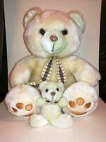 Ours en peluche vintage avec son petit ourson 90's