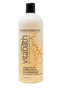 Vitabath Bubble Bath, Heavenly Coconut Creme, 33.8 Fluid Ounce