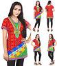 Mashine Washable Women Casual Indian Short Kurti Tunic Kurta Top Shirt Dress 77E