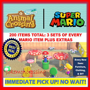 ALL Super Mario Items /Animal Crossing ACNH Loot 1.8 Update *200 ITEMS*