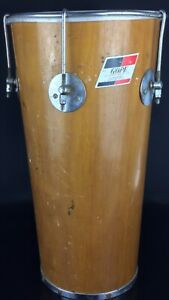 Ancienne percussion, tambour,  tartan.... « Gope» Brésil en bois et peau