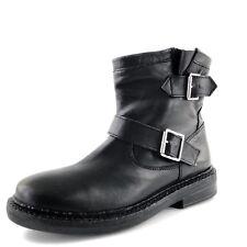Top Shop Black Leather Short Moto Ankle Boots Women��s Size 38 M