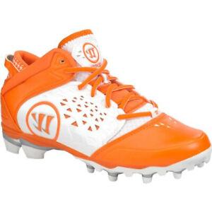 NEW Mens Warrior Adonis Lacrosse Cleats White / Orange Sz 15 M