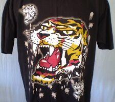 Ed Hardy Black 2XL T-Shirt Tiger Blood Cotton
