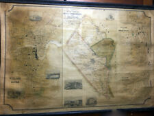 H.F. Walling MAP OF THE TOWNS OF DOVER, SOMERSWORTH... 1851 Very Good 26x40