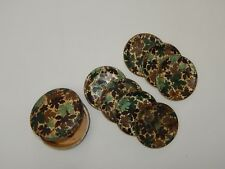 Highmount Quality Coasters Alcohol Proof Floral 7 Pieces + Case Japan R17552