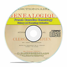 French Canadian Family History Stories Genealogy 10 Classic French Books CD V90