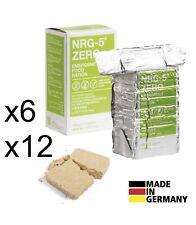 x6 x12 Pack NEU Notration NRG-5 ZERO Notverpflegung Notnahrung Outdoor VEGAN
