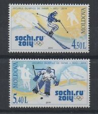 PAIR OF SOCHI RUSSIA WINTER OLYMPICS MOLDOVA 2014 MNH STAMPS