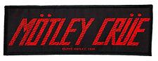 (SP3006)Motley Crue Logo Aufnäher Patch Gewebt & Lizenziert !!