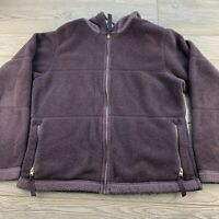 *Patagonia Fleece Full Zip Hooded Jacket Womens Size Medium Purple Quilted