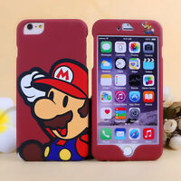NEW Super Mario Nintendo Apple iPhone Front & Back Plate Case Cover