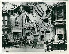 1914 World War I Hartlepool War Damage Original News Service Photo