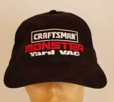 Black Craftsman Monster Yard Vac Tools Logo Embroidered Trucker Hat Cap