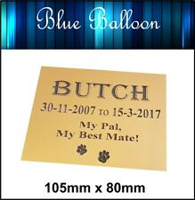 Pet Memorial Plaque Weatherproof, Dog .Cat Bird...- Engraved. Personalised