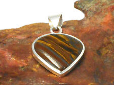 TIGER'S  EYE    Sterling  Silver  925 Gemstone  PENDANT  -  Gift  boxed!!