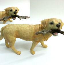 """Fetch"" Labrador with Stick Dog Ornament Figurine Statue New Boxed"