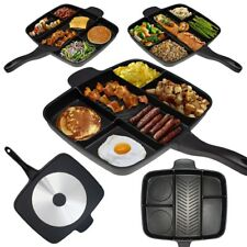 Multi Pan Non-Stick Multi-Section 5-in-1 Frying Grill Fry OvenInduction Hob Meal