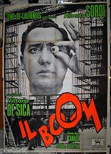 manifesto 4F film IL BOOM Vittorio De Sica Alberto Sordi G.Maria Canale 1963