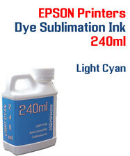 Dye Sublimation Ink - Light Cyan 240ml bottle - Epson printers