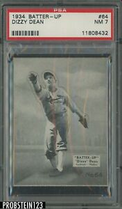 1934 Batter - Up #64 Dizzy Dean Cardinals PSA 7 NM