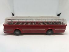Wiking HO 1/87 Büssing Trambus Red with Transparent Roof - Vintage 1960-1968