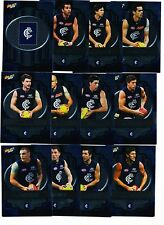 2013 Select Champions Carlton Blues Silver Parallel set 12 cards