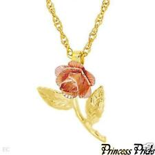 2Tone Gold Plated Necklace -Rose - Free Shipping