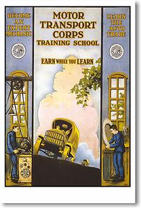 Motor Transport Corps by E.R. Euler - Fine Art Vintage Print POSTER