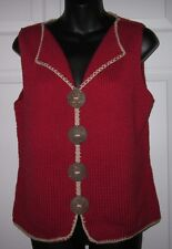 Monterey Bay Clothing Company Red Knit Sweater Vest Small Ex Cond *Sharp Must C*