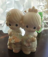 To My Forever Friend Precious Moments~Ornament~113956~2 girls w Basket & Wreath