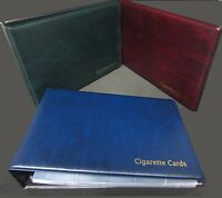 GLEN CIGARETTE CARD ALBUM & 30 SLEEVES -  RED GREEN BLUE - OPTIONAL SLIPCASE
