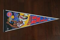 VINTAGE WINCRAFT SALEM CARICATURE DETROIT PISTONS GRANT HILL PENNANT FLAG NOS