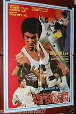 """MISSION FOR THE DRAGON (Dragon Lee) 20x27"""" Original Lebanese Movie Poster 80s"""
