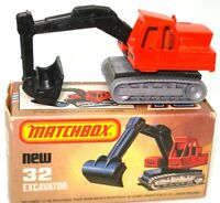 LESNEY MATCHBOX NO. 32 EXCAVATOR - A/MINT & BOXED