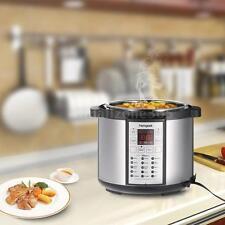 1000 Watt 6-Quart 15 in 1 Electric Pressure Cooker Stainless Steel Slow Cooker