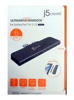j5create - UltraDrive Mini Dock USB 3.0/Mini DisplayPort Docking Station - Black