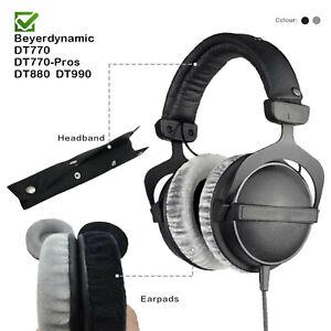 Velour Ersatz Ohrpolster Kopfband Beyerdynamic DT990 DT880 DT770 Kopfhörer